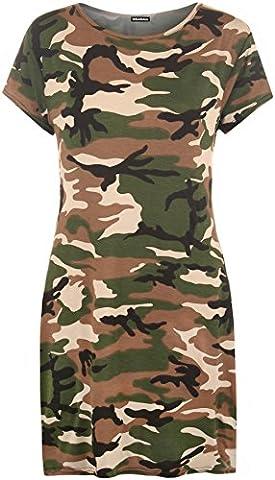WearAll - Femmes Grande Taille Imprimer Baggy surdimensionné à manches