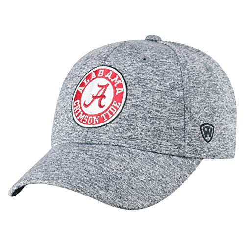 Top of the World NCAA Alabama Crimson Tide Men's Adjustable Steam Charcoal Icon Hat, Grey