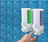 Aviva L2 Double Chamber White Soap Dispenser lock top by Aviva