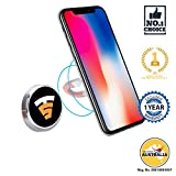 #8: Tech Sense Lab (Australia) Multimount Magnetic Car Mobile Phone Holder, Universal Mobile Mount with one touch 360 degree rotating for Dashboard/Home/Officedesk . Compatible with all Smartphone's - iphone,Samsung,Android etc. ((Silver))