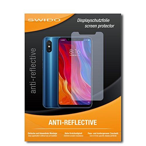 SWIDO Bildschirmschutz für Xiaomi Mi 8 [4 Stück] Anti-Reflex MATT Entspiegelnd, Hoher Härtegrad, Schutz vor Kratzer/Glasfolie, Schutzfolie, Bildschirmschutzfolie, Panzerglas Folie