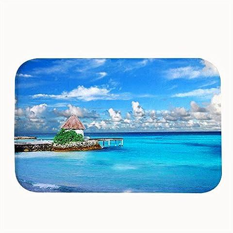 Whiangfsoo élégante Île des Maldives en microfibre Paillasson de salle