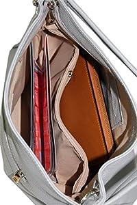 Ambra Moda GL002 - Bolso de cuero auténtico para mujer en varios colores