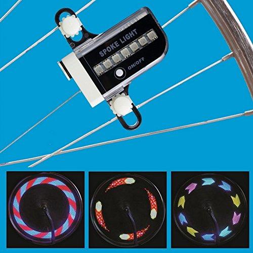 bensports 14LED Moto Bicicletta Ruota segnale Tire Spoke Luce 30Modifiche diversi motivi - Multi Spoke Wheel