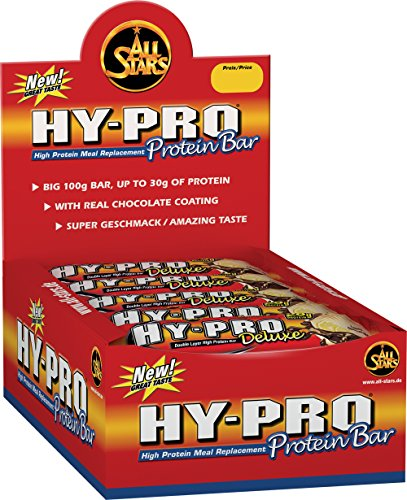 All Stars Hy-Pro Deluxe Bar, Chocolate Nut-Crunch, 24er Pack (24 x 100 g) -