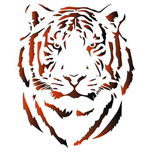 Tiger Head Schablone-wiederverwendbar African Big Cat Animal Wildlife Schablonen für Malerei-zur Verwendung auf Papier Projekte Scrapbook Tagebuch Wände Böden Stoff Möbel Glas Holz usw. m
