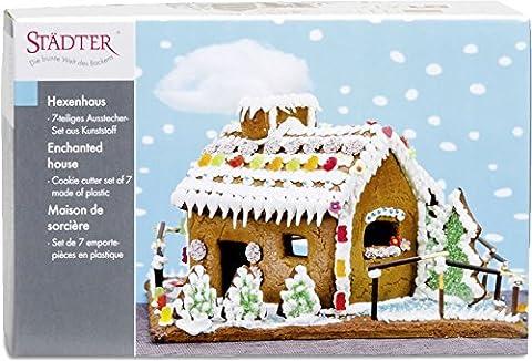 7pièces * maison de sorcière de la ausstechen * pour le Advent et la période de Noël/Décoration/Décoration de Noël Pain d'épice Advent Biscuits Pâtisserie Bricolage bricolage
