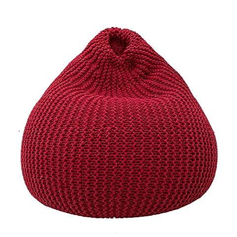 XXFFH® Le canapé paresseux à tisser à la main, le sac de beurre de coton, vous permet de sentir la présence d'un sens profond du coussin , red