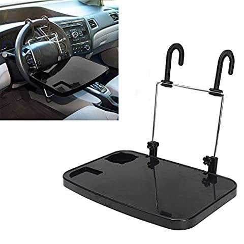 Daorier Foldable Car Rear Seat Laptop Holder Black Car Laptop Cup Holder Notebook Table