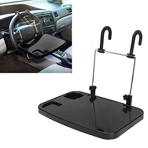 DaoRier Faltbare Auto-Rücksitz Laptop-Halter Auto Laptop Halterung Getränkehalter Notebooktisch KFZ Tischhalterung Schwarz (Auto Halter Laptop)
