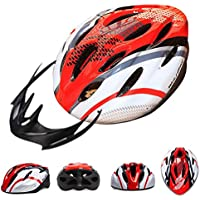 SaySure - WOLFBIKE Bicycle Bike Cycling Adult Men Women Carbon Helmet BMX MTB Road Hero Helmet 19 Holes Visor Size 54-64cm Yellow Blue Red - UK-BG-SPT-000317