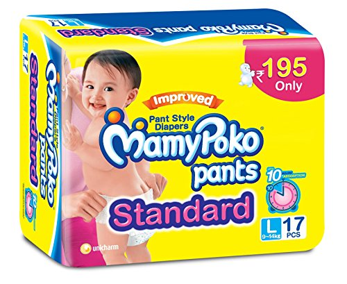 Mamy Poko pants standard Pant Style diapers Large Size Diapers (17 Count)