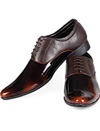 DEEKADA Patent Leather Office Wear+Party Wear Lace Up Formal Shoes Lace Up For Men