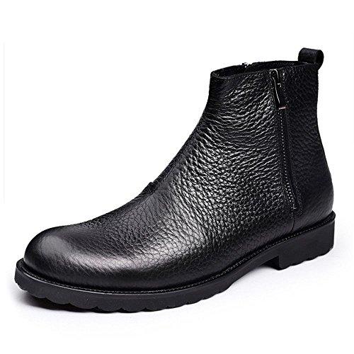 gli stivali di pelle manica cerniera scarpe inghilterra chelsea boots black