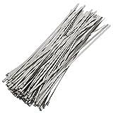 Yahee 100 pz Fascette per cavi tubi in acciaio inox Fermacavi Stringitubi lunghezza da 300 mm