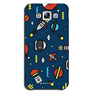 Mozine Space Pattern printed mobile back cover for Samsung E5