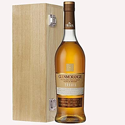 Glenmorangie Tusail Single Malt Whisky 70cl Bottle in Luxury Solid Oak Gift Box with Hand Crafted Gifts2Drink Tag
