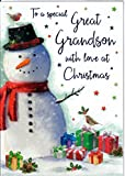 To A Special Great Grandson With Love At Christmas. Außergewöhnlicher Great Grandson Weihnachten Karte
