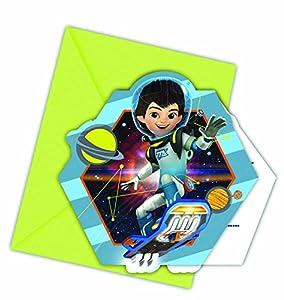 Paquete de 6 invitaciones para fiesta con diseño de Miles from Tomorrowland