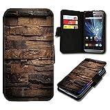 Book Style HTC One M9 Premium PU-Leder Tasche Flip Brieftasche Handy Hülle mit Kartenfächer für HTC One M9 - Design Flip SB52