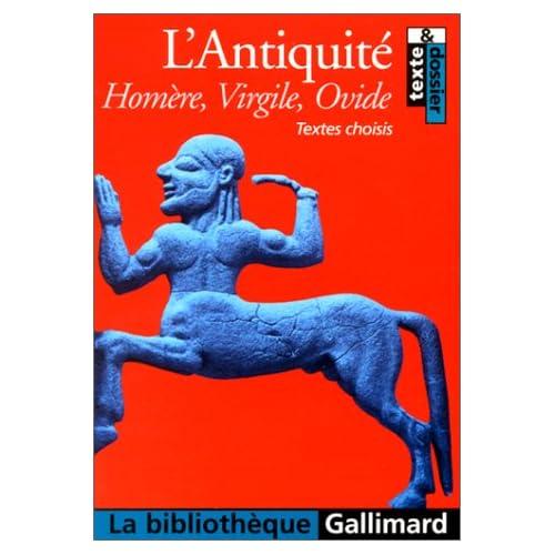 L'Antiquité: Textes choisis