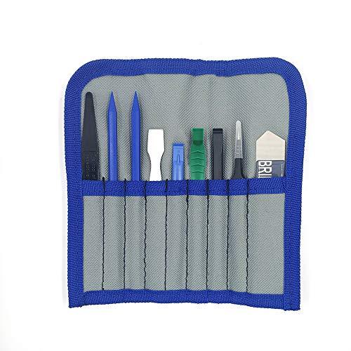 Professionelles öffnen Pry Tool Reparatur-Set mit Diejenigen Nylon Spudger und antistatisch Pinzette 9PCS Werkzeug-Set in Tasche