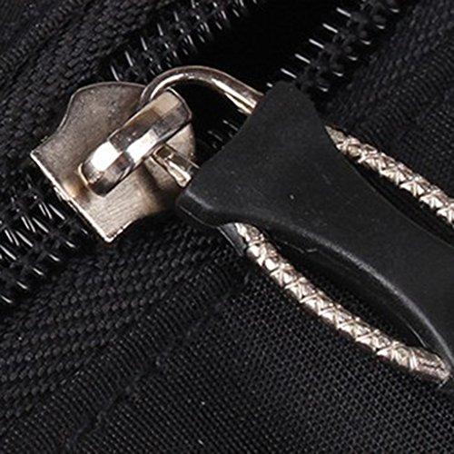Wickeltasche Pflegetasche Kinderwagen Muttertasche Babytasche 3Pcs Set Large Capacity Mama Tote Windel-Windel-Wickeltasche Kaffee Gestreifte - schwarz, one size schwarz