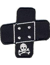 Pflaster Totenkopf - Skull - Aufnäher Aufbügler Applikation Patch - ca. 5 x 5 cm