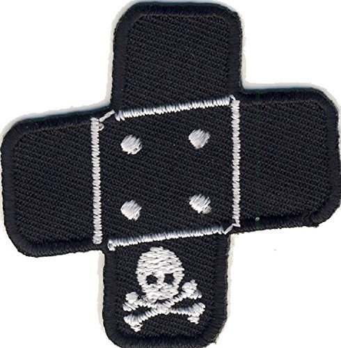 Pflaster Totenkopf - Skull - Aufnäher Aufbügler Applikation Patch - ca. 5 x 5 cm - Pflaster Patch