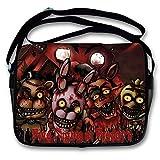 Five Nights at Freddy's Zaino per Escursioni Sacchetti di spalla popolare borsa di giorno casuale di Crossbody delle borse messenger stampate fumetto 3D (Color : A1, Size : 34 x 26 x 9cm)