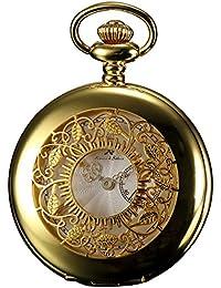 KS KSP050 - Half Hunter Series Reloj de Bolsillo Cuarzo Analógico, Caja Dorada