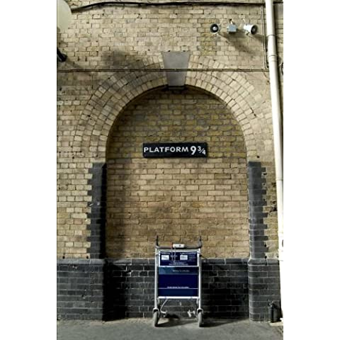 King's Cross Railway Station Platform 9 3/4 (Harry Was Here) Journal: 150 page lined notebook/diary