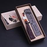 flashing lights- Mahagoni-Ebenholz-Holz-Lesezeichen Chinesische Art mit Quasten-kreativen klassischen Bookmarks Retro Geschenk ( Farbe : A )