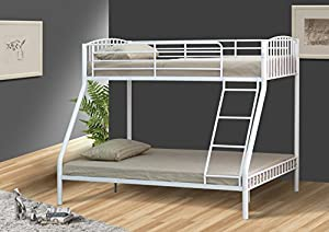 Silver 3ft and 4ft6 Triple Metal Kids Bunk Bed Without Mattresses