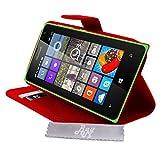 Luxus Schutzhülle rot Stand mit Brieftasche Microsoft