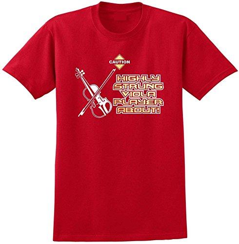Viola Highly Strung - Red Rot T Shirt Größe 87cm 36in Small MusicaliTee - Rot Violine E-saite Infeld