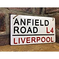 LIVERPOOL FOOTBALL SIGN-Anfield Road-London Street Sign