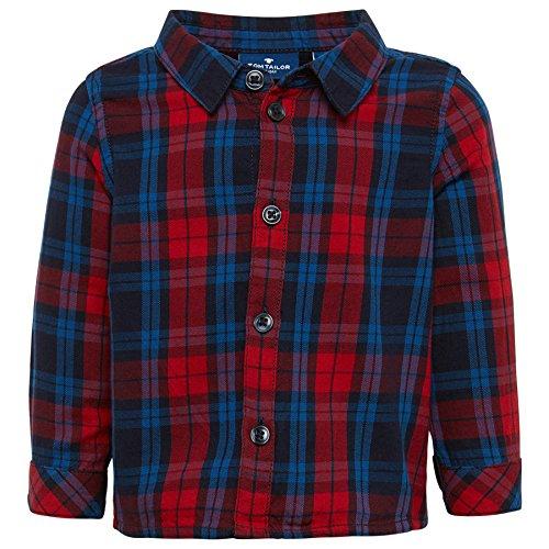 TOM TAILOR für Babies, für Jungen Blusen & Shirts Kariertes Hemd Bright Cherry Red 74 (Shirt Twill-jungen)