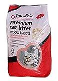 Snowflake Premium Woodbased Cat Litter, 30 Litre