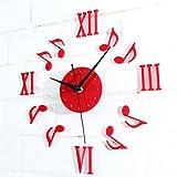 Hrph Moderne 3D Horloge Miroir Acrylique Horloge Murale Pendule Créative Autocollant Sticker Art Chambre Bricolage Bureau Office Décoration Maison