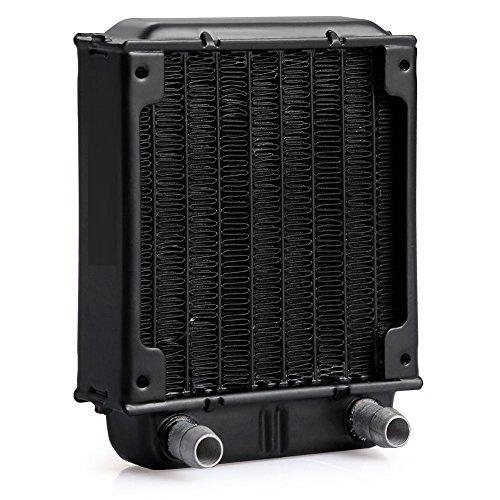 Caiyuangg®Wärmetauscher Kühler ,Schwarzes Aluminium Warmetauscher Kuehler für PC CPU CO2 Laser Wasser Kuehlsystem Computer