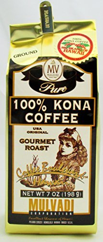 MULVADI 100% caf? de Kona Maru de amigos del caf? de Kona Hawaii (polvo)