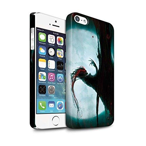 Offiziell Chris Cold Hülle / Matte Snap-On Case für Apple iPhone 5/5S / Kriegsheld/Warlock Muster / Dämonisches Tier Kollektion Dramargu/Vollmond