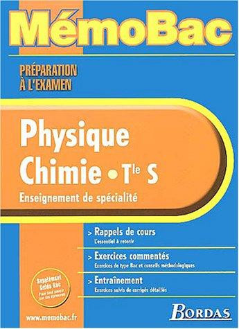 MEMO PREPA EXAM PHYS/CHIMIE TERM S (SPE) (Ancienne Edition) par Jean-Claude Paul