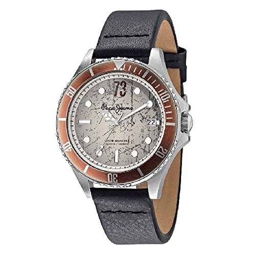 PEPE JEANS R2351106010 - Reloj de pulsera para hombre, color gris negro