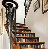 LIZHIOO Treppenaufkleber Treppenaufkleber Home Dekorative Treppenhaus Wandtattoos Boden PVC 3D wasserdichte Wandaufkleber (100Cm*18Cm) 13Pcs