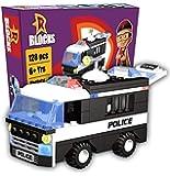 TOTTA Mighty Raju Police Car Design Building Block Play Set for Kids (128 pcs Block Set)