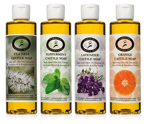 Carolina Castile Soap Variety Pack - 4 - 236ml Bottles