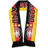 Federboa 1,8m Fan schwarz//rot//gold//weiß WM Fußball