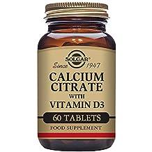 Solgar Cal-D Integratore Alimentare Citrato a Base di Calcio e Vitamina D - 60 Tavolette